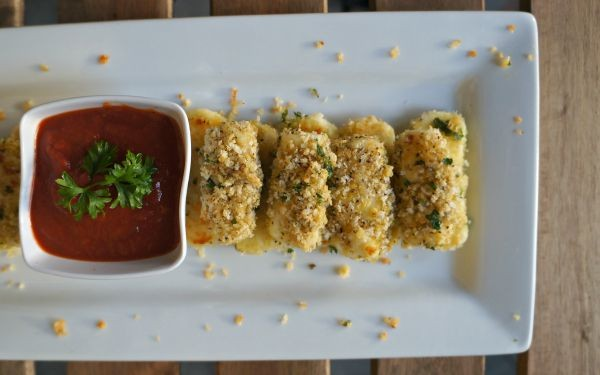 Appetizers for Game Day, Homemade Baked Mozzarella Sticks