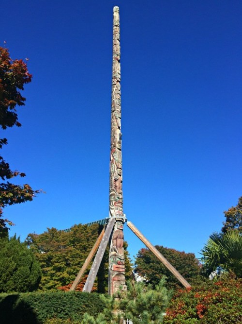 Interesting things I saw in Vancouver BC, Canada, Totel pole in Kitsilano