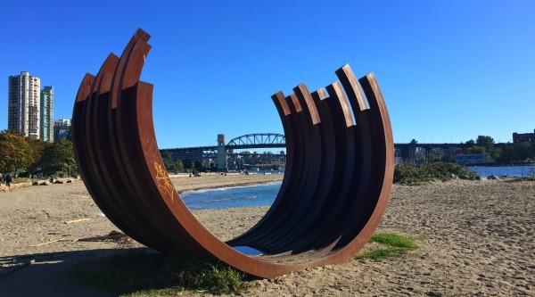 Interesting things I saw in Vancouver BC, Canada, outdoor museum sculpture