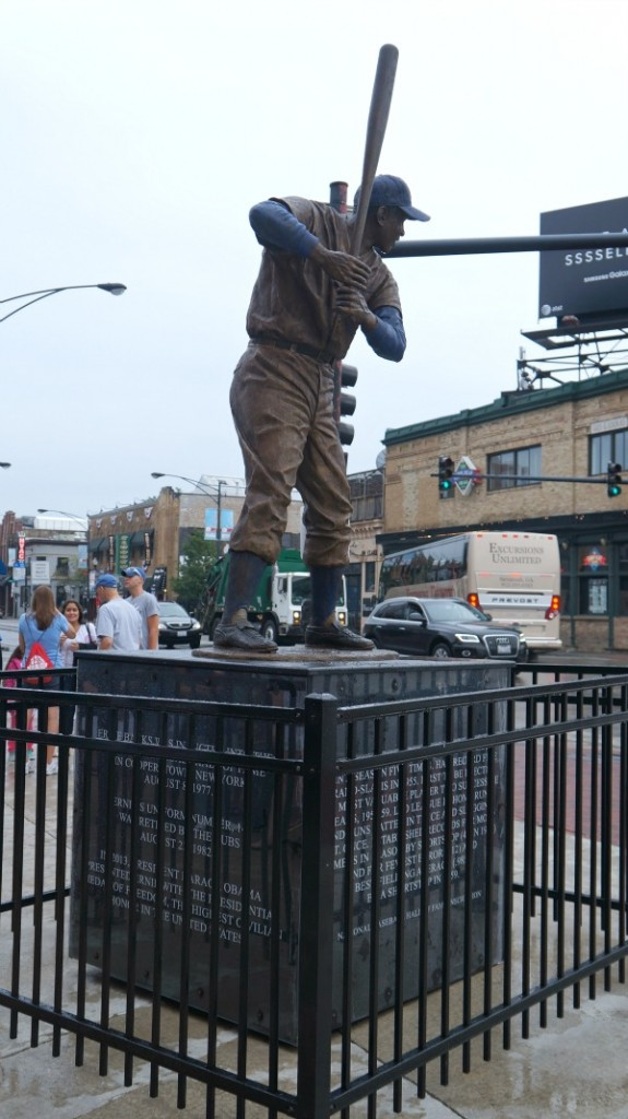 Statue in front of Wrigley Field