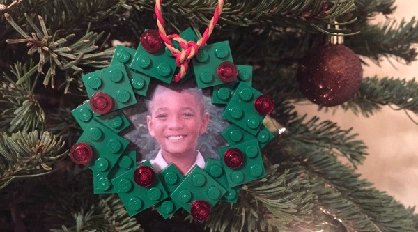 DIY Holiday LEGO Wreath Ornament