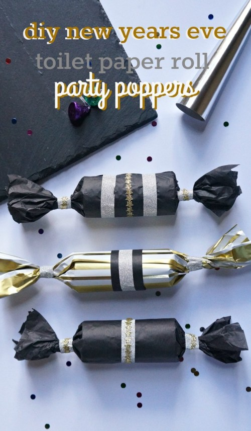 DIY New Years Eve Toilet Paper Roll Party Poppers