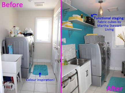 Kismet Interior Design & The Home Depot Canada - Laundry Room Makeover