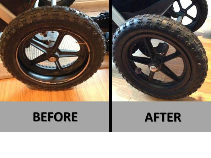 Bugaboo Stroller Spa repair before and after
