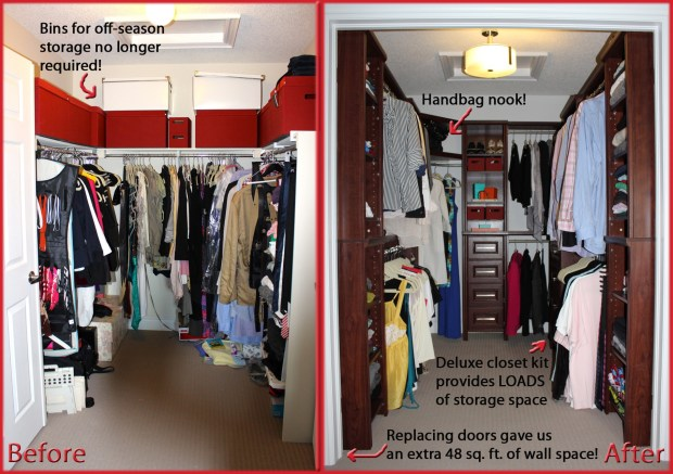 ClosetMaid Impressions (before & after)