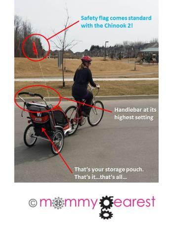 Chinook 2 bike trailer