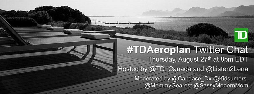 TD Aeroplan twitter chat graphic