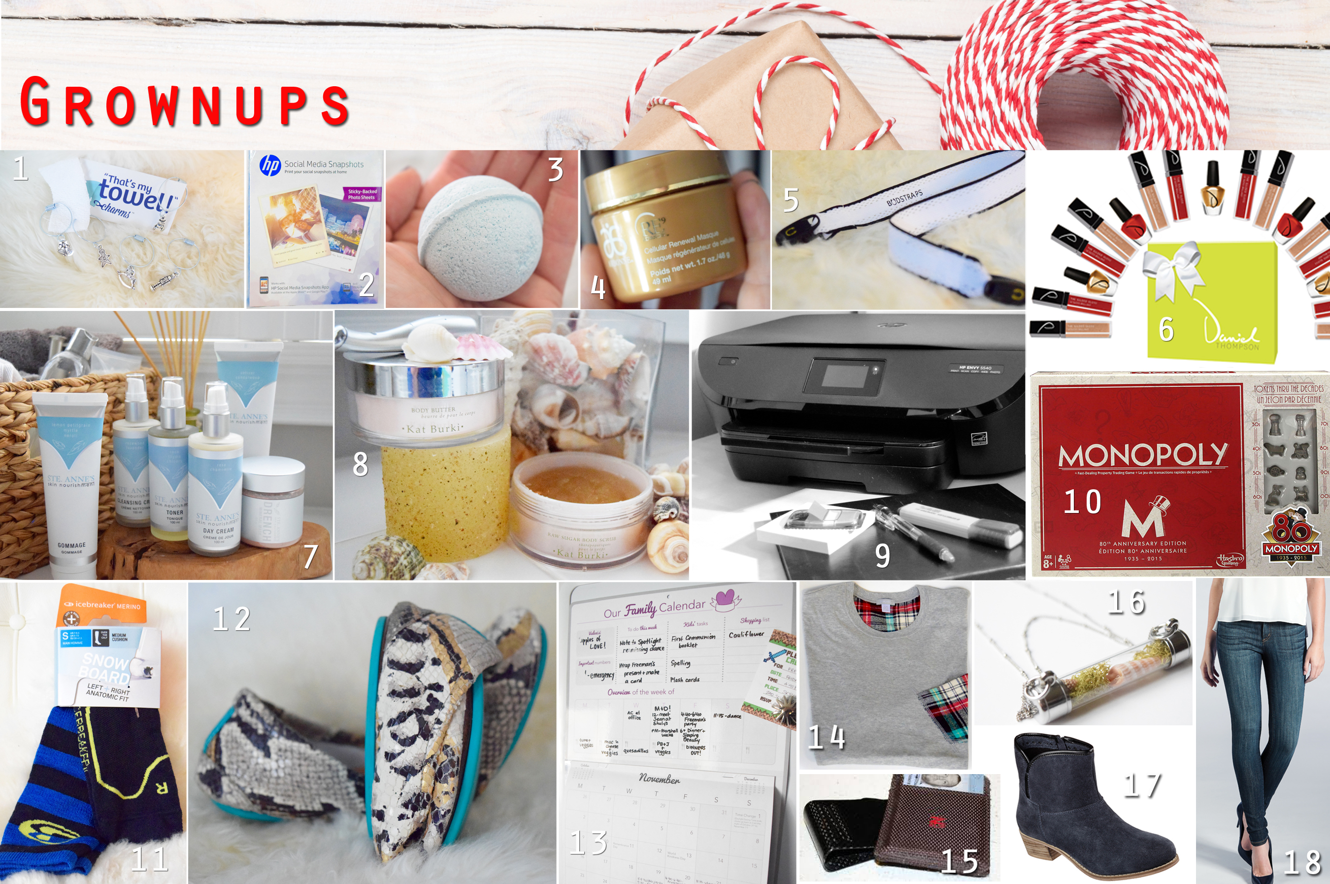 2015 holiday gift guide - grownup gifts collage