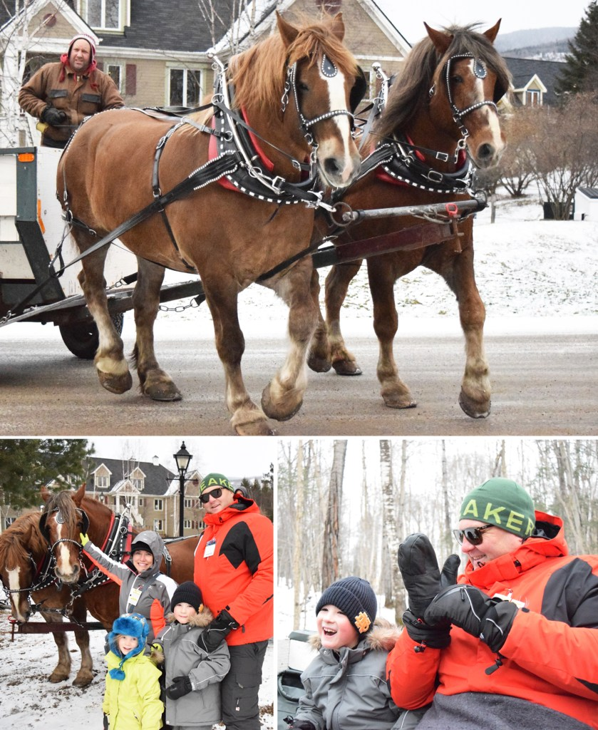 Sleigh ride Mont Tremblant