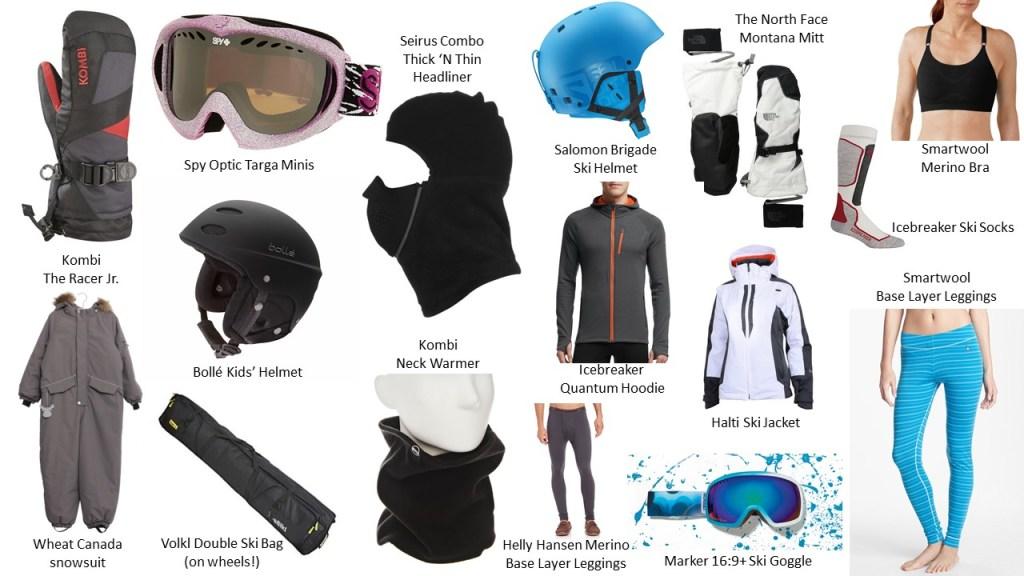 Family favourite ski gear