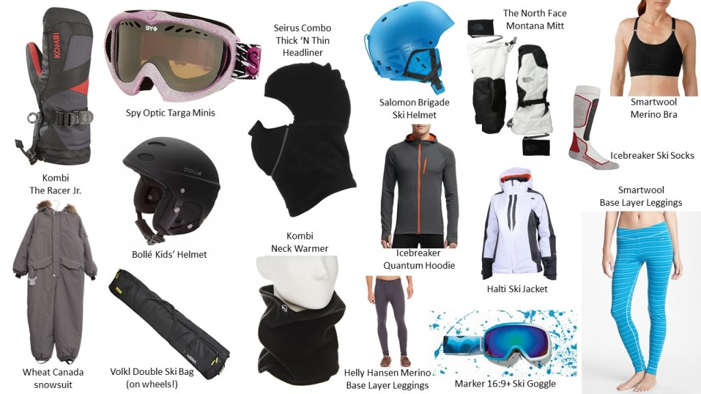Family favourite ski gear