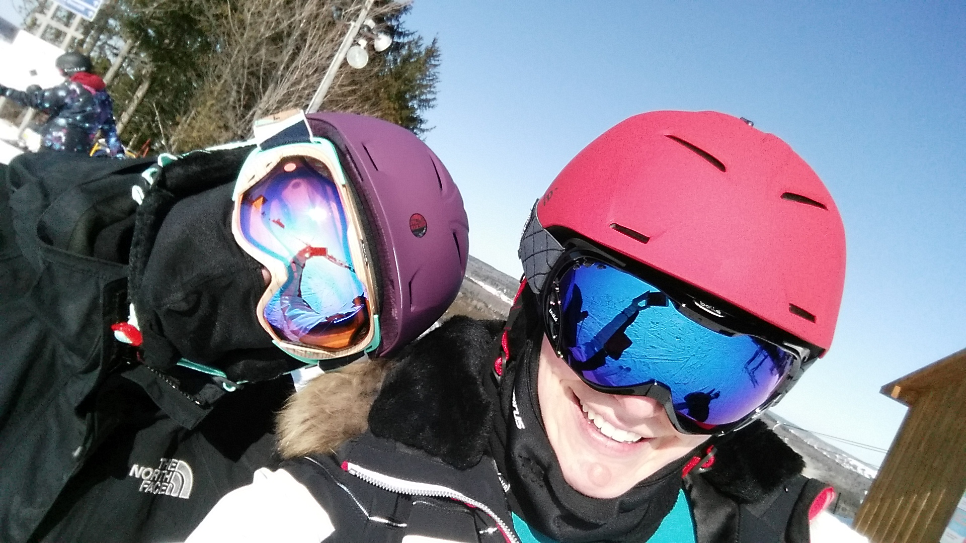 822f8b4aa6a2 Bolle goggles and helmet fit for women. Heaher and I went skiing together  ...