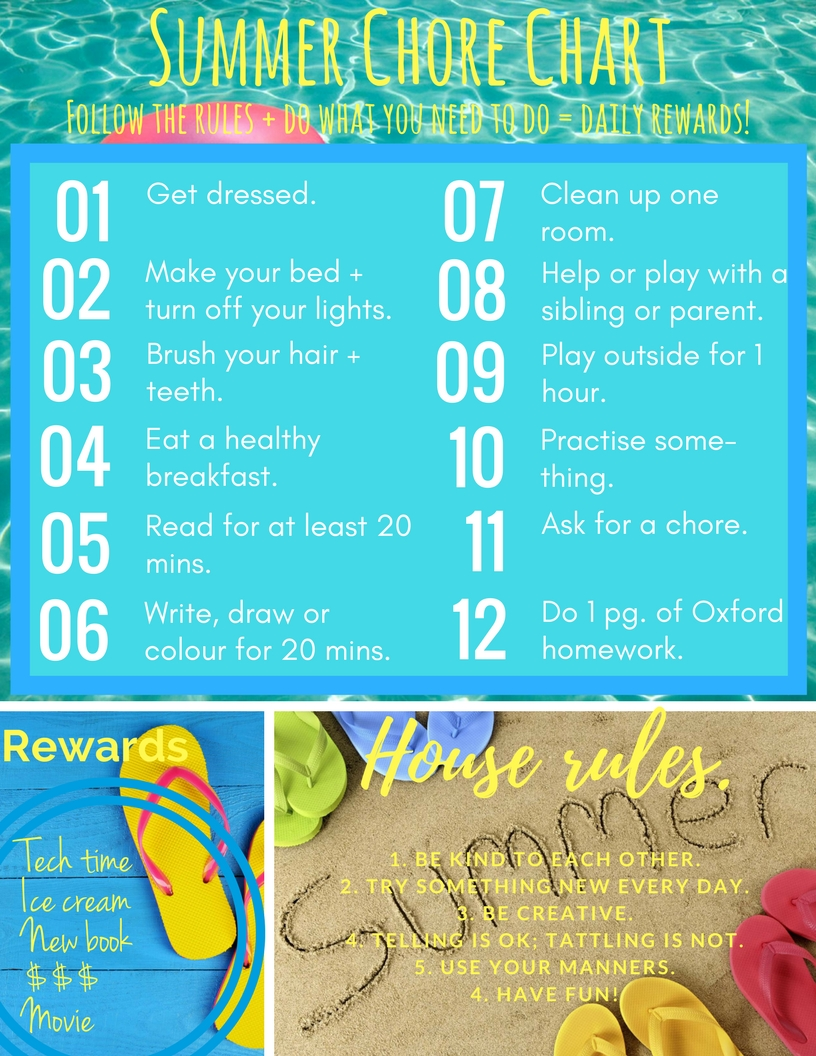 photo regarding Summer Chore Chart Printable called Printable summertime chore chart Mommy Gearest Mommy Gearest