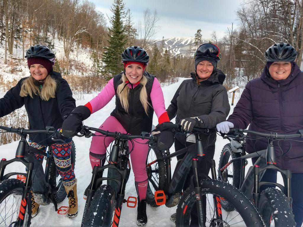 Fat biking tremblant winter