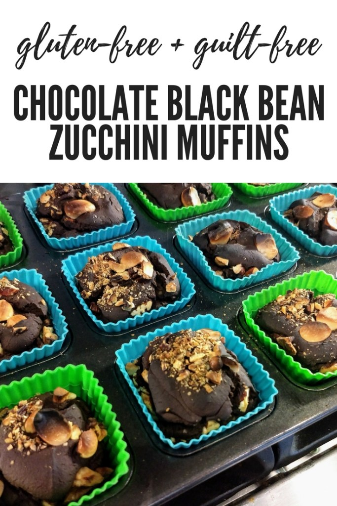 How to make the most delicious and healthy gluten-free chocolate muffins with black beans and zucchini.
