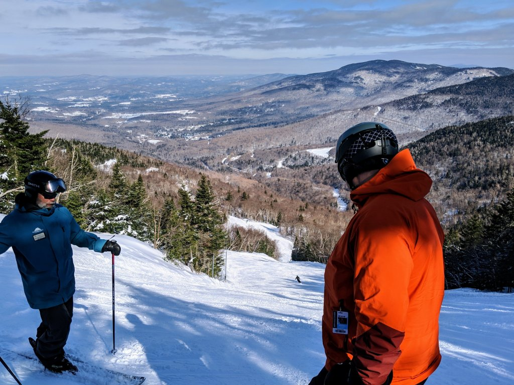 ski lessons for adults at Smugglers Notch
