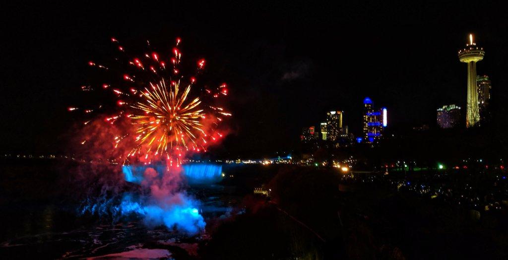 when are niagara falls fireworks