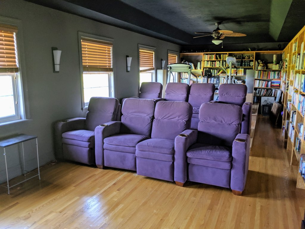 The Resting Place theatre room