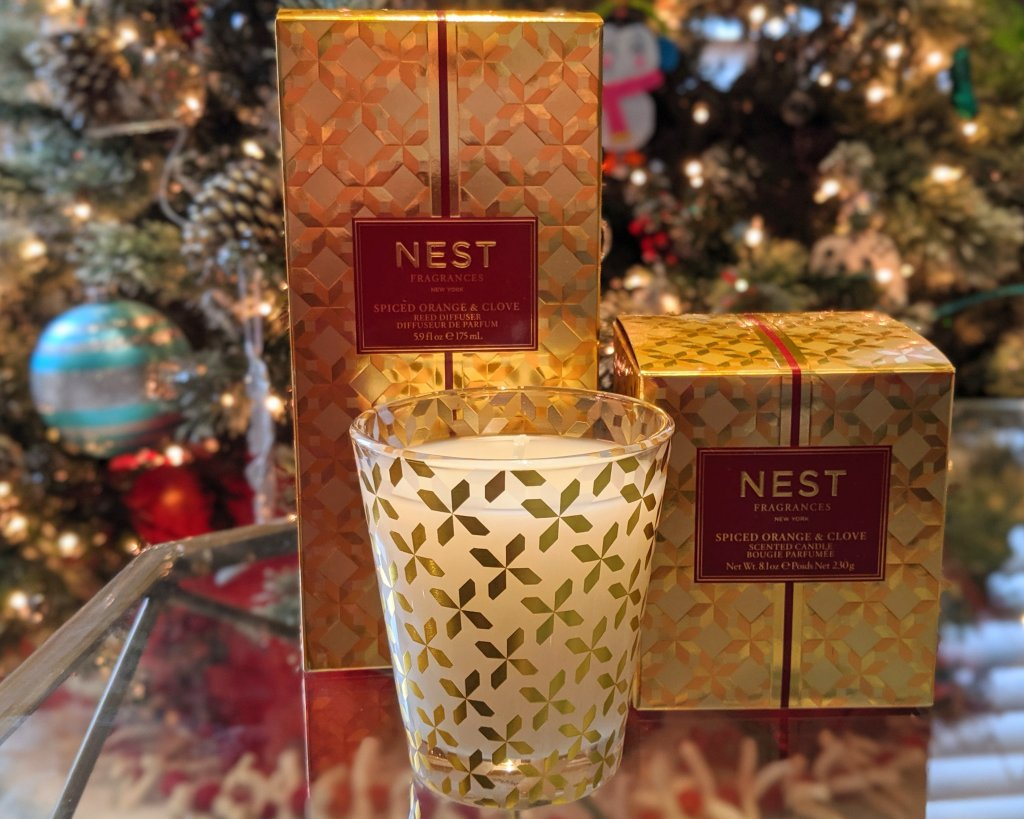nest candles and diffuser