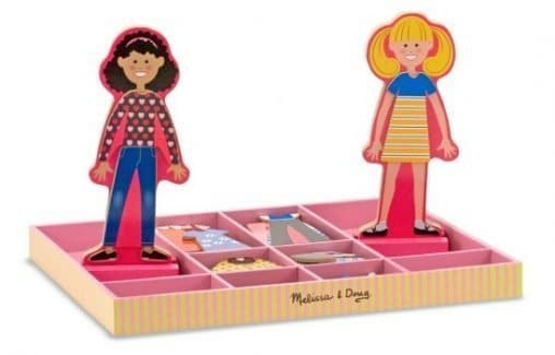 Melissa & Doug Abby and Emma Deluxe Magnetic Wooden Dress-Up Dolls