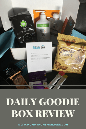 Daily Goodie Box offers free samples and full sized products to members in exchange for opinions. Here are my opinions. :-)