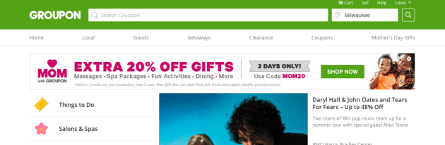 Groupon via My Favorite Money Saving Apps and Websites at Mommy: Home Manager