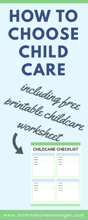 Choosing where you little one will spend their days in a big decision. How to choose the best childcare, how to find childcare, childcare worksheet, childcare checklist, how to find daycare, how to find nanny