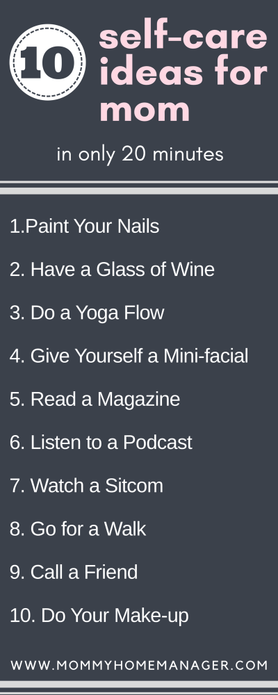 Moms take care of your families, homes, jobs, and everyone else...but what about ourselves? Here are some self care ideas for busy moms. #selfcare #busymom #momlife