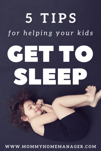 Sleep can be a big struggle with babies, infants, and toddlers. Check out these 5 tips for helping your kids get to sleep. #sleep #bedtime #sleephabits #parenting