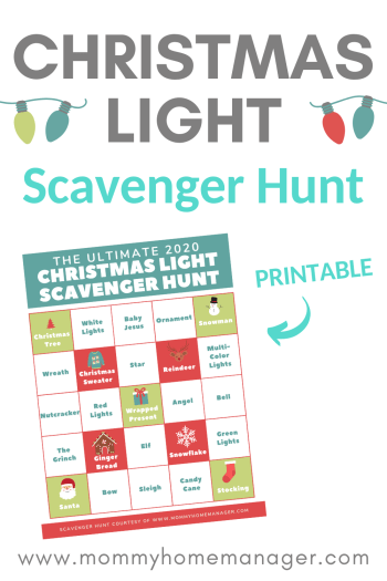 Looking for a fun and safe family activity? Check out this Christmas Light Scavenger Hunt! Holiday activities, family activities, printable worksheet