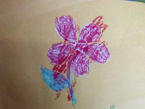 Drawing of toddler