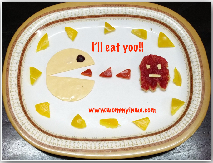 Food art : Easy way to let kids eat nutritional food - Pac Man