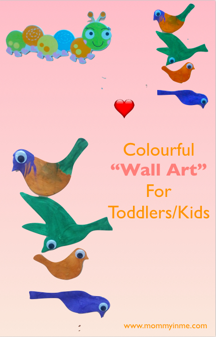 Colourful wall art for kids