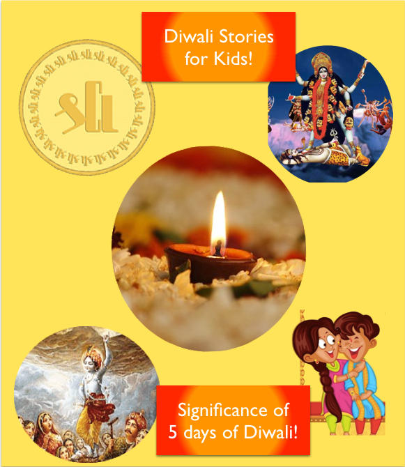 Diwali Stories for kids, This Diwali let kids get aware of the story behind the celebration of DIwali, the meaning and significance of 5 days of Diwali in a Simple and story telling way
