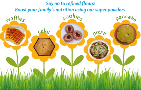 Organic non refined flours to make Cookies and cakes, yummy and healthy for kids