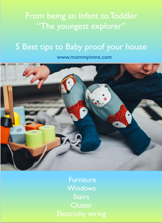 Unaware how to child proof your house as your infant turns to toddler? Child proofing house is a major task for us to ensure the safety of our children. Read best 5 tips to baby proofing or child proofing homes from an experienced mama! #childproofing #babyproofing #childproof #babyproof #babylocks #childproofinglocks #childproofingproducts #safety #childsafety