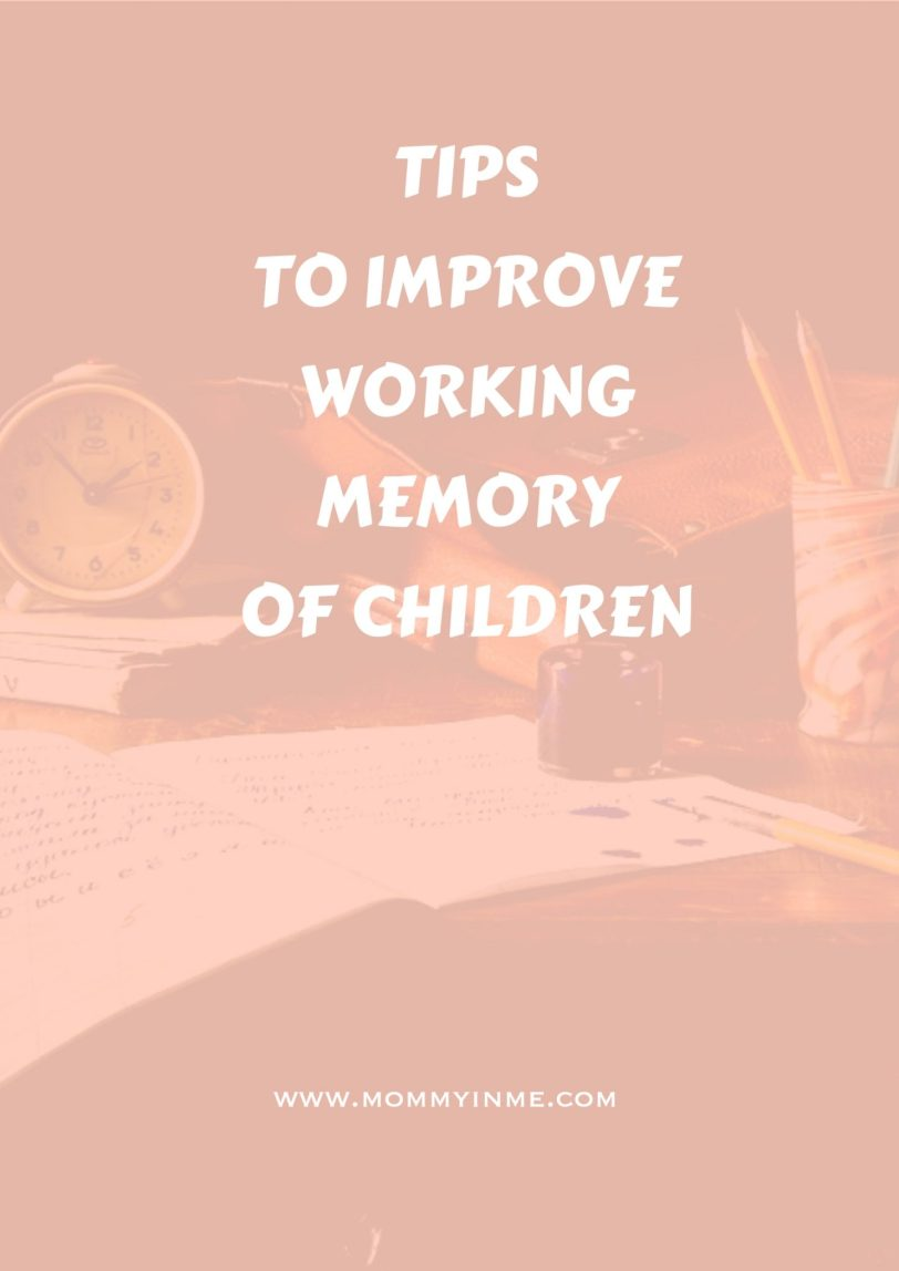Tips to increase the working memory and concentration in children. Must read as a parent. #memory #concentration #parentingtips
