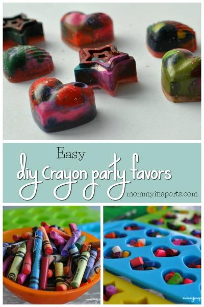 Easy DIY Crayon party favors