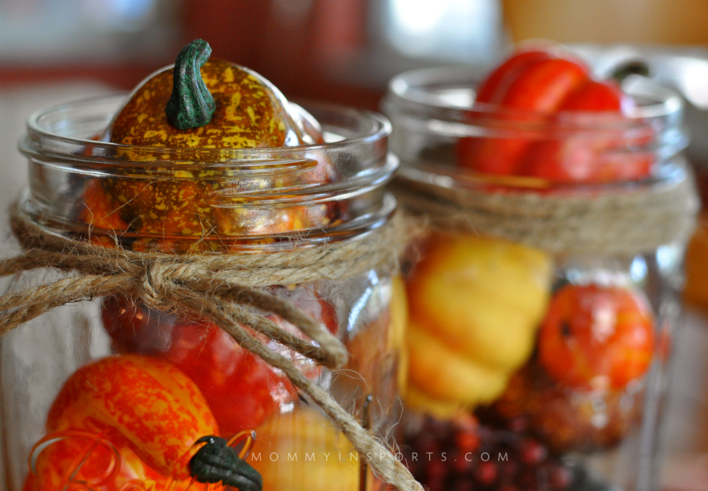 Easy Fall Decorations Mason Jars Twine