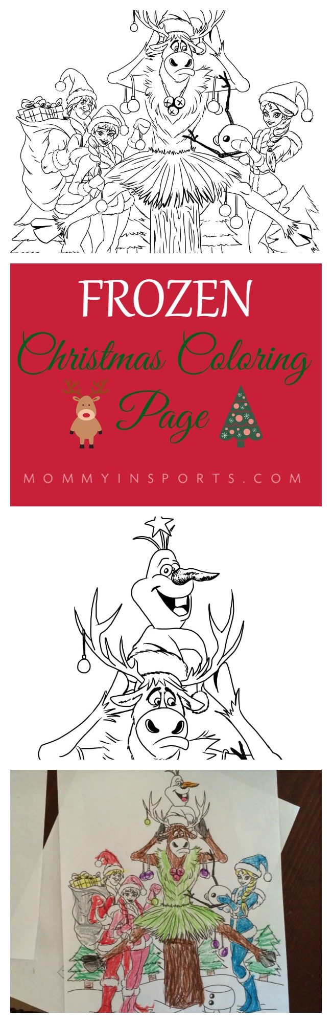 Frozen Christmas Coloring Page Mommy In Sports