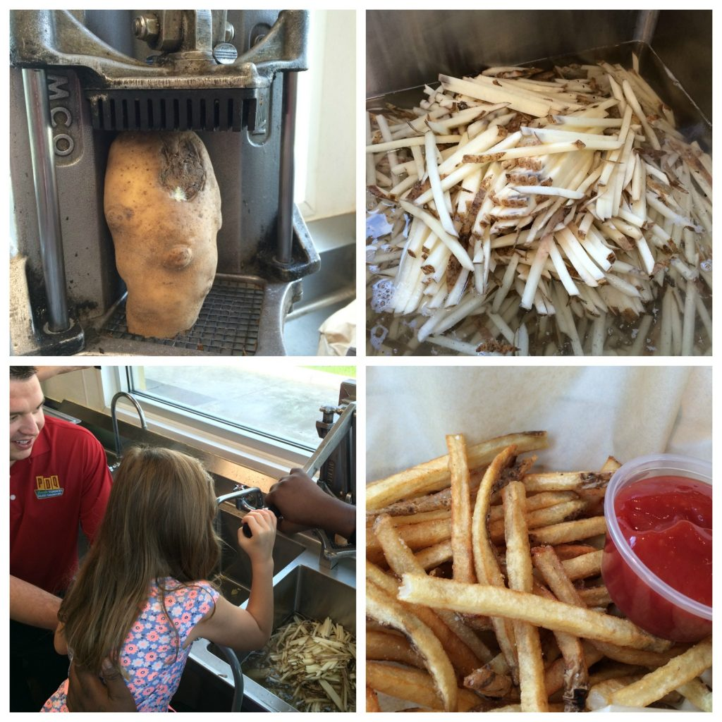 PDQ French Fries Collage