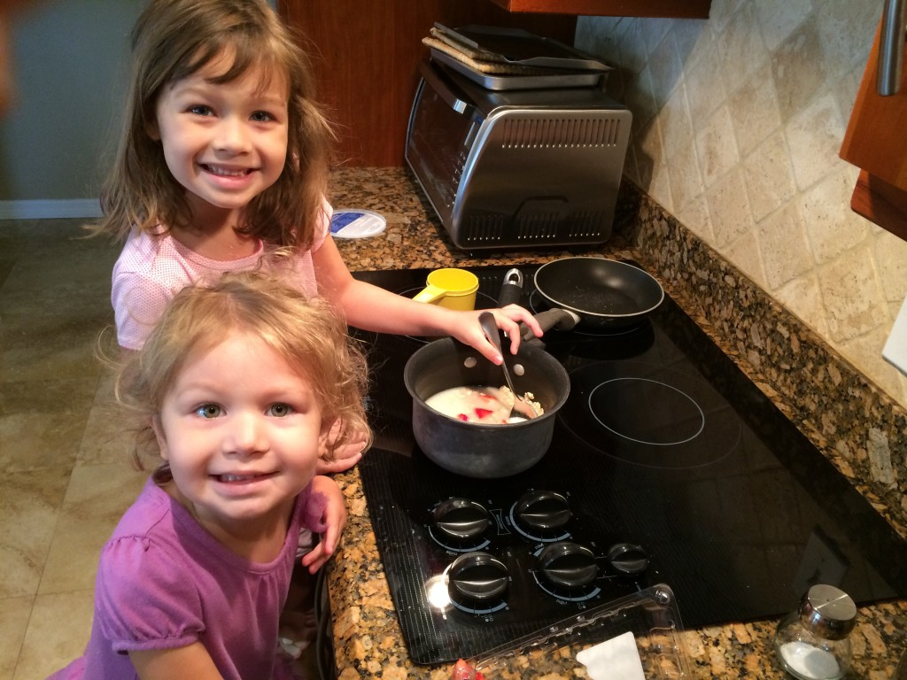 Encourage kids to help you cook so they understand where their food comes from! Picky eaters love to play in the kitchen!