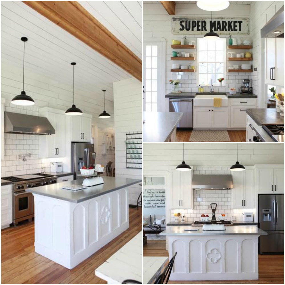 Re-designing a new kitchen and need some inspiration? Check out these 10 perfect Fixer Upper Modern Farmhouse White Kitchen Ideas! You too can have the kitchen of your dreams!