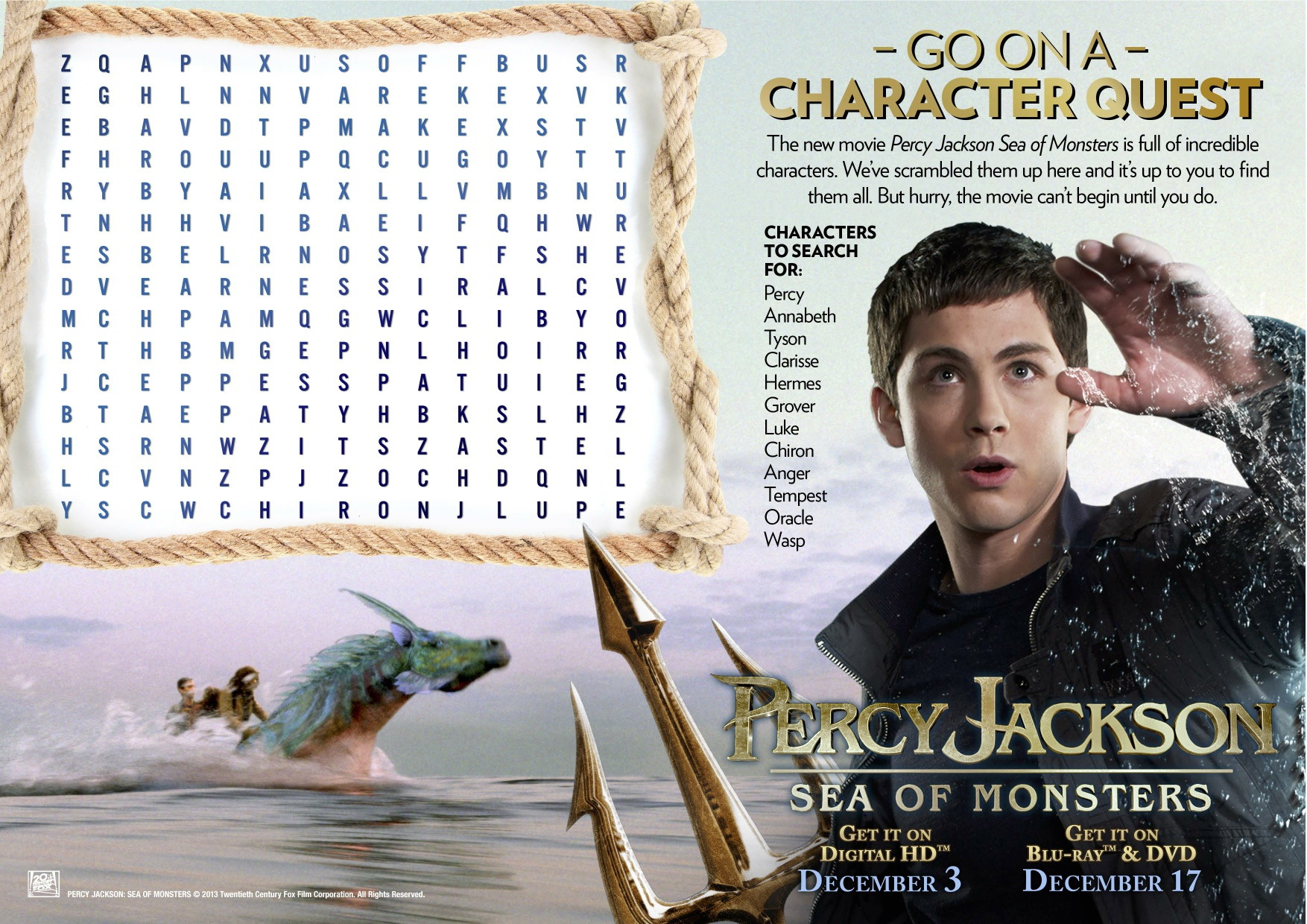 Get Swept Away With Percy Jackson Sea Of Monsters On Blu