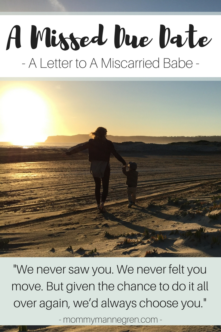 A Missed Due Date: A Letter to a Miscarried Babe on their due date