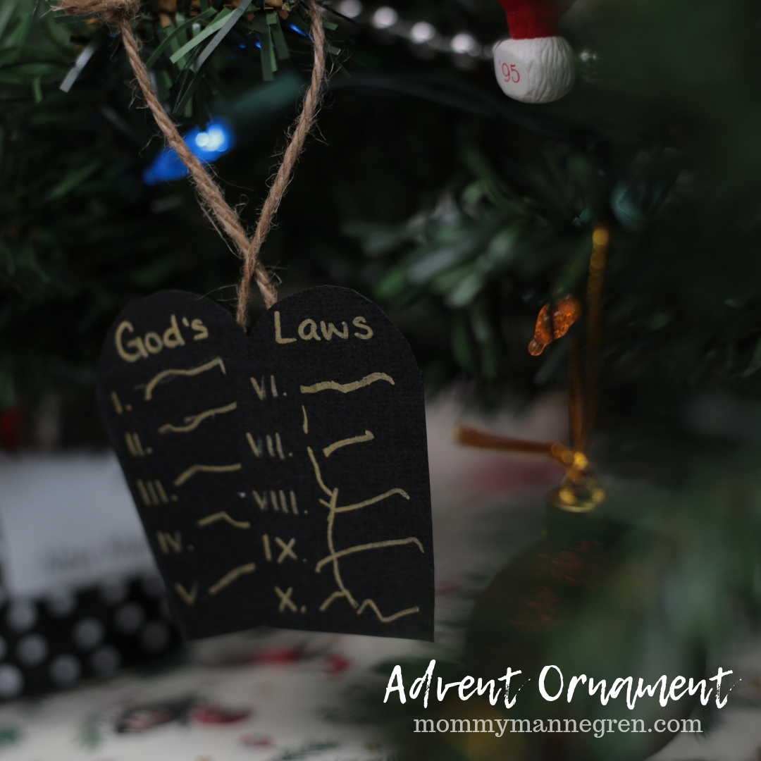Advent Ornament: The Ten Commandments
