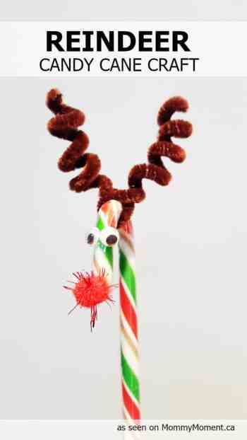 Reindeer crafts kids can make 10 fun ideas letters for Easy candy cane crafts