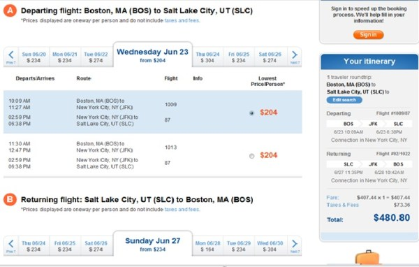 jetblue airline tickets flights amp airfare book direct - 721×460