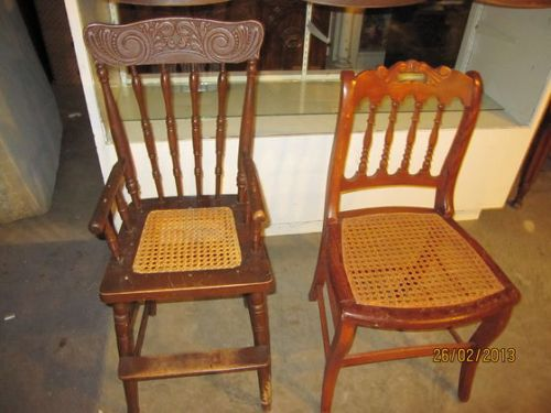 This is the chair that I thought was a youth chair and next to it the one that went for $5.
