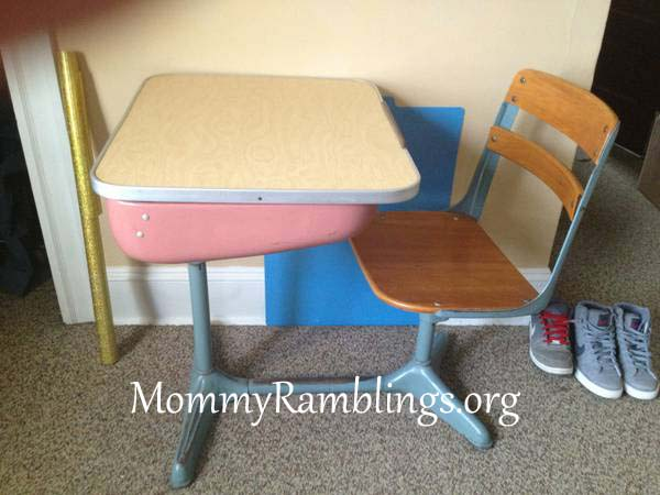 student desk copy - Vintage School Desk Transformation #3!!! American Seating Company